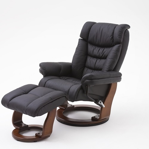 Leather Chairs With Footstool
