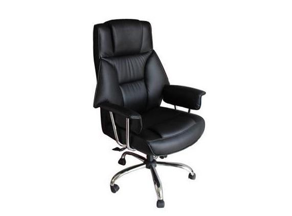 biurowy fotel obrotowy z tapicerką ze skóry