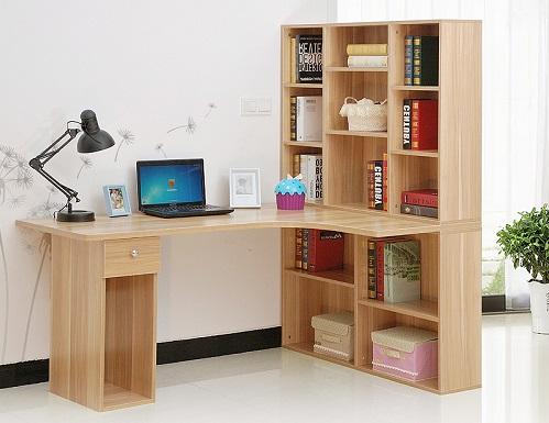 biurko narożne z regałem